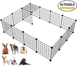 Langxun Metal Wire Storage Organizer na kostki, DIY klatka dla małych zwierząt dla królika, świnki morskiej, szczeniaka   ...