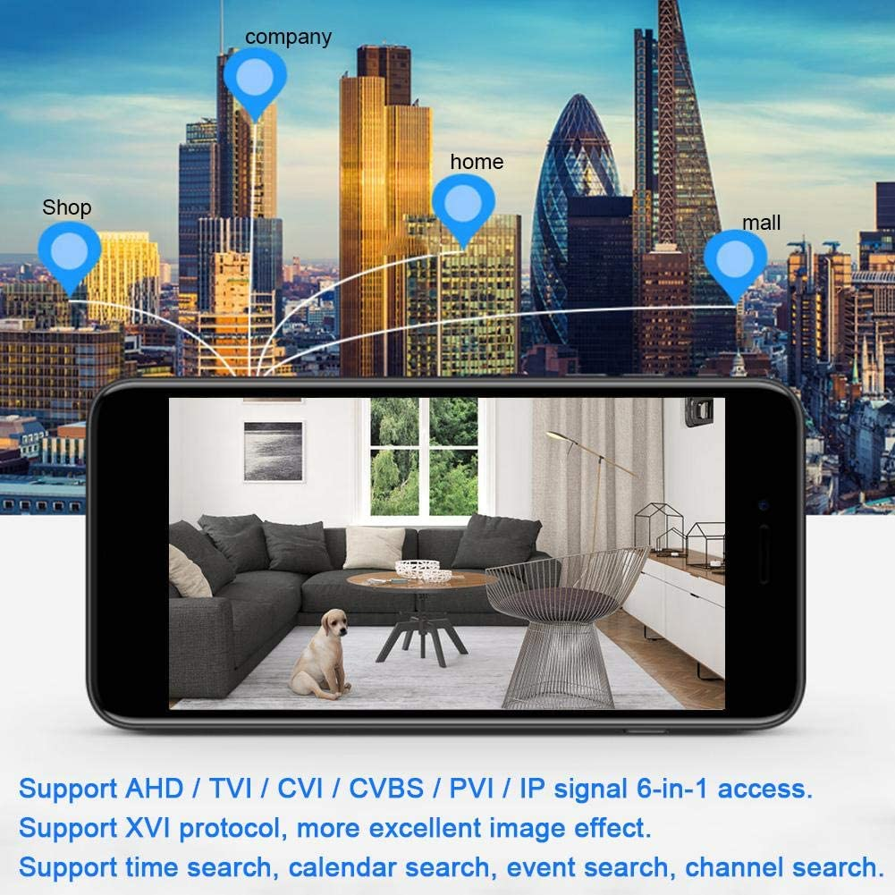 EU 1080P 4-Kanal AHD//IPC DVR Digitaler Videorecorder f/ür das ONVIF CCTV-Sicherheitssystem Unterst/ützung des XVI-Protokolls Hopcd Secuirty Camera Video Recorder