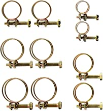 Anjing 50 Stks Verstelbare Dubbele Draad Slang Clips Klem Staal Draad Buis Buis Clip Schroef Assortiment Kit 50 Stks Dubbe...