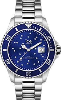 Ice Watch - Montre argentée Cristaux de Swarovski Mixte Bracelet métal Ice Steel (016773)