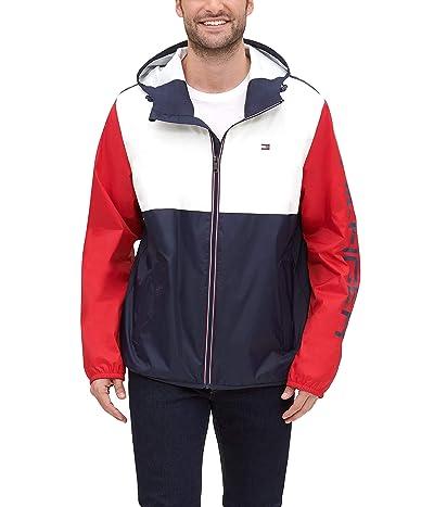 Tommy Hilfiger Color Blocked Logo Rain Slicker Jacket