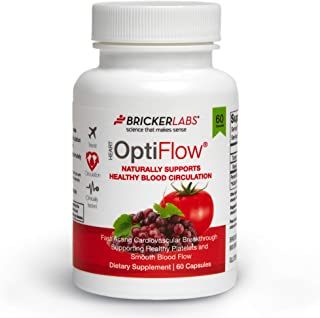 Optiflow with Fruitflow® 60 Capsules - Derived from Tomatoes - Natural Ingredients Helping Optimal Cardiovascular Health - Healthy Blood Circulation by Keeping Platelets Smooth