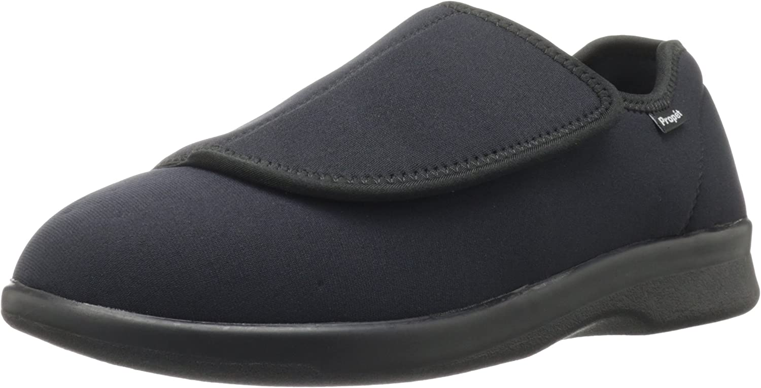 Propet M0202 Men's Cush'N Foot Slippers shoes Black Medical