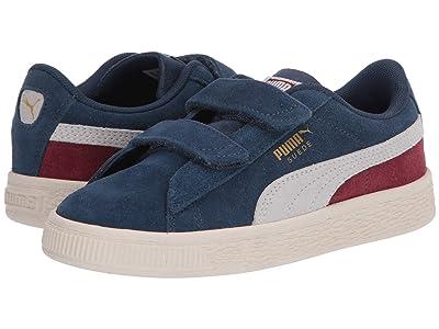 Puma Kids Suede Classic V (Little Kid) (Dark Denim/Burnt Russet) Boys Shoes