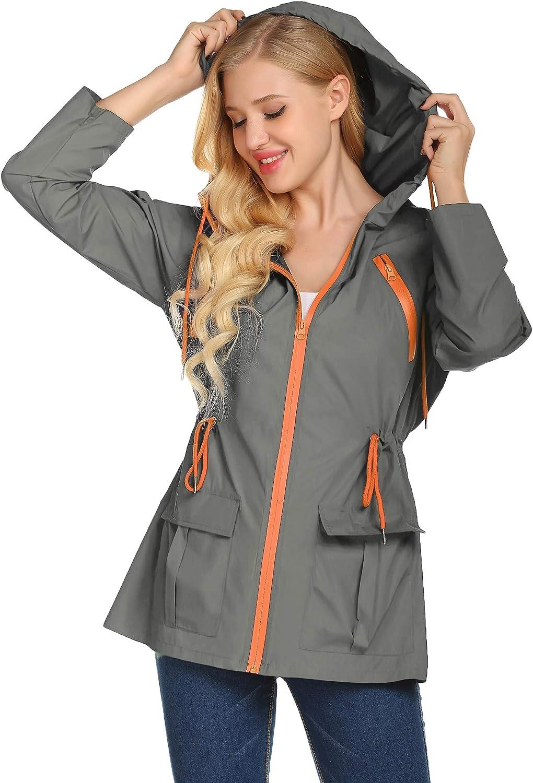 LOMON Rain Coats for Women Popular Rainco Hooded Waterproof Lightweight Popular overseas