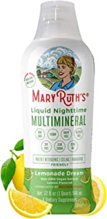 Vegan Liquid Nighttime Multimineral by MaryRuth's - Highest Purity Ingredients, Vitamins, Minerals, Magnesium & MSM Builds...