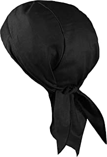 Solid Color Doo Rag with Sweatband, Made in America, Skull Cap for Men Women