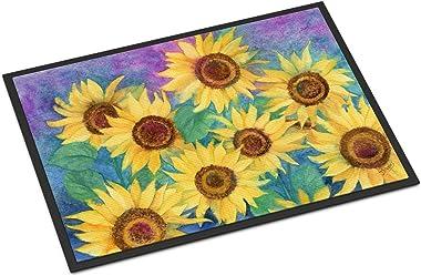 """Caroline's Treasures IBD0247JMAT Sunflowers and Purple Indoor or Outdoor Mat, 24"""" x 36"""", Multicolor"""