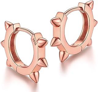 Silvora Ear Cuff Huggie أقراط للنساء الفضة الاسترليني هوب حلق الفتيات في سن المراهقة مجوهرات
