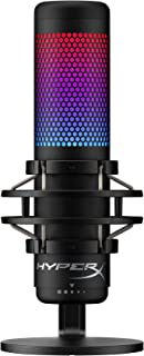 HyperX QuadCast S – RGB USB Condenser Microphone for PC, PS4 and Mac, Anti-Vibration Shock Mount, Four Polar Patterns, Pop...