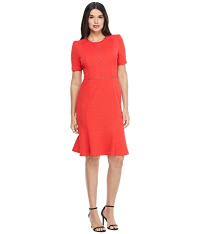 Maggy London Stretchy Knit Sheath Dress (High Risk Red) Women