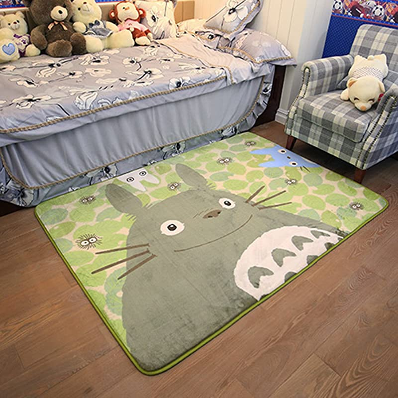 EKEA Home Cartoon TOTORO Skid Proof Washable Big Carpet Kids Nursery Entertainment Floor Area Rugs Baby Crawling Mat For Living Room Bed Room Green 50x120cm 19 7 X47 28