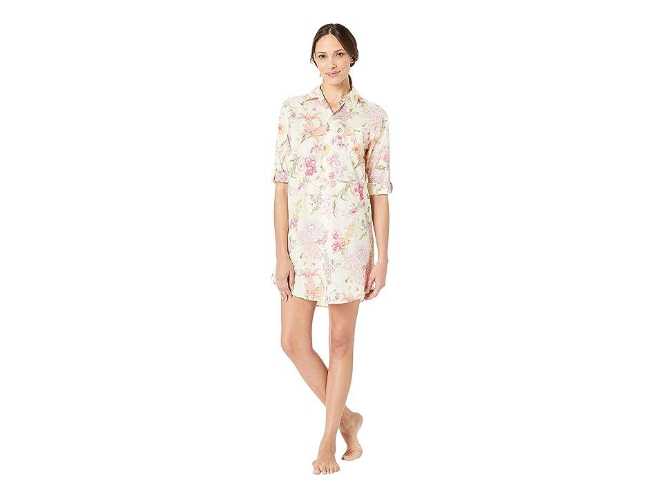 LAUREN Ralph Lauren 3/4 Sleeve His Shirt Sleepshirt (Multi Floral) Women