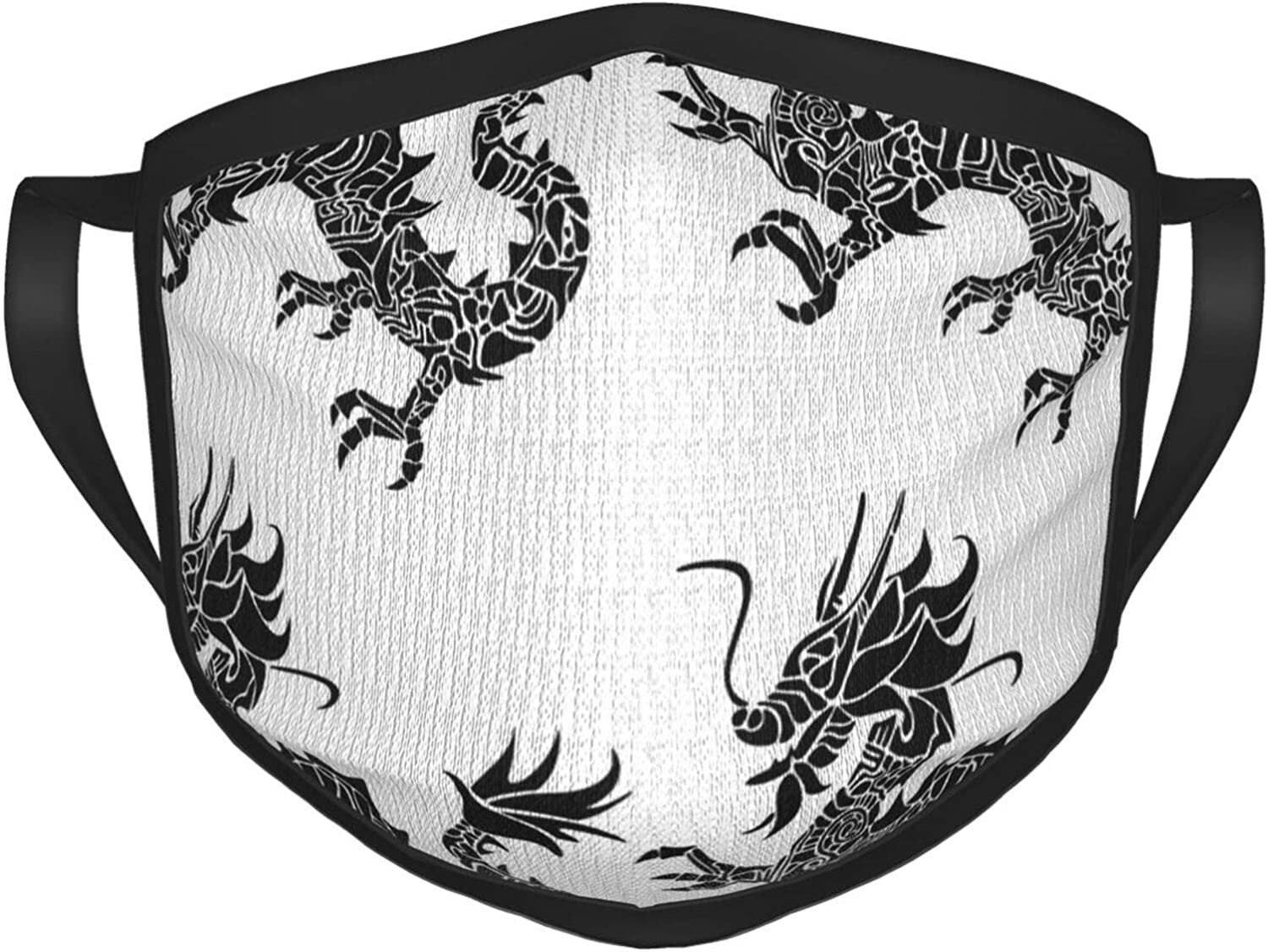 LANJYF 2 Packs Reusable Mouth Wear, Asian Dragon Silhouette Unisex Facial Covering
