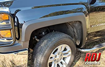 RDJ Trucks HWY-PRO OEM Style Fender Flares - Fits Chevrolet Silverado 1500/2500HD - Set of 4 (Smooth Paintable Black)