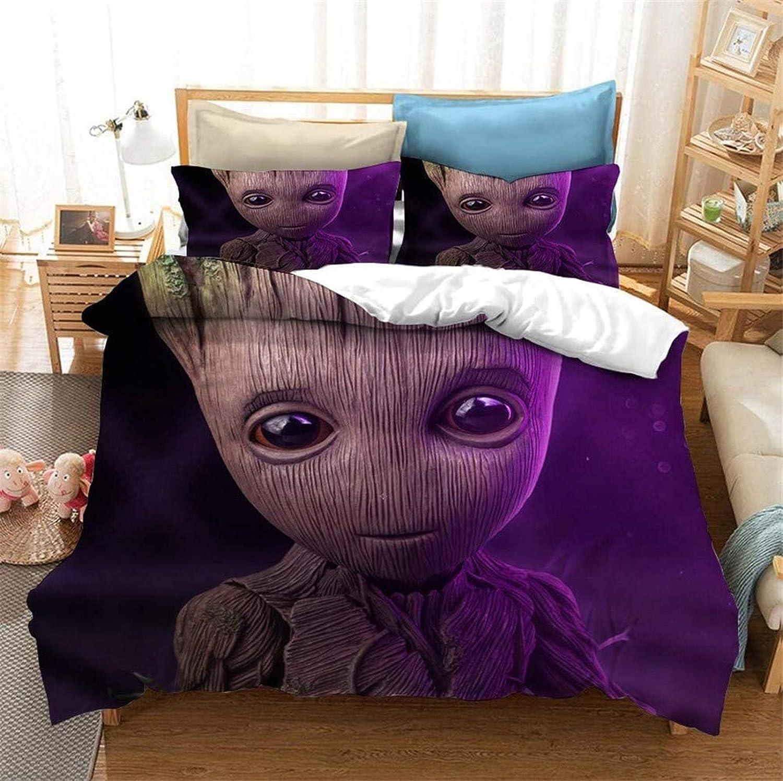 Funda de edred/ón para cama infantil poli/éster, tama/ño individual, 135 x 200 + 50 x 75 cm WFBZ Avengers