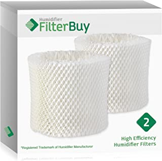 FilterBuy Replacement Humidifier Wick Filters Compatible with WF2 Kaz & Vicks (Pack of 2).