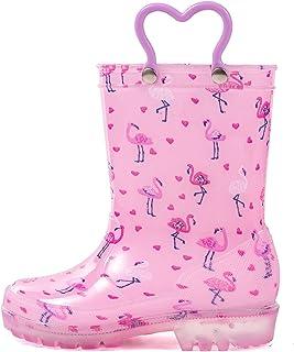 HugRain Toddler Kids Lightweight Adorable Rain Boots