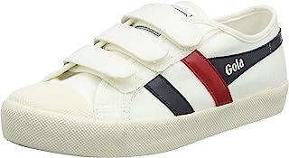 Gola Coaster Velcro Off White/Navy/Red, Baskets Femme