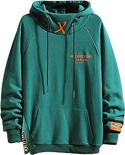 GURUNVANI Color Blocking Hoodie Unisex Men Street Fashion Pullover Loose Sweatshirt