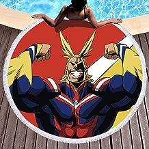 Round 150cm3D Printed Beach Towel Anime My Hero Academia Poster Beach Mat Yoga Mat