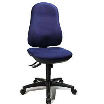 Blaue Bürostühle