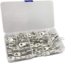 ExcelFu 80pcs Bolt Hole Tinned Copper Terminals set-Wire terminals connector Cable lugs Battery SC Terminals Glimpse of Mouth