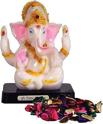HomeSquare Resin Lord Ganesha Ganesh Ganpati Idol Hindu Figurine Showpiece