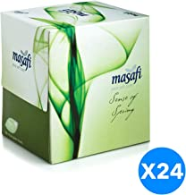 Masafi Spring Boutique Facial Tissue - Pack of 24 Boxes (24 x 100 Sheets x 2 ply)
