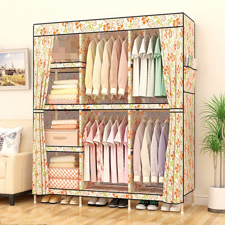 tienda en linea Armario de Tela Sencilla de Madera Maciza Maciza Maciza Niños de Montaje Simple Tela de Oxford (Color   1)  muchas sorpresas