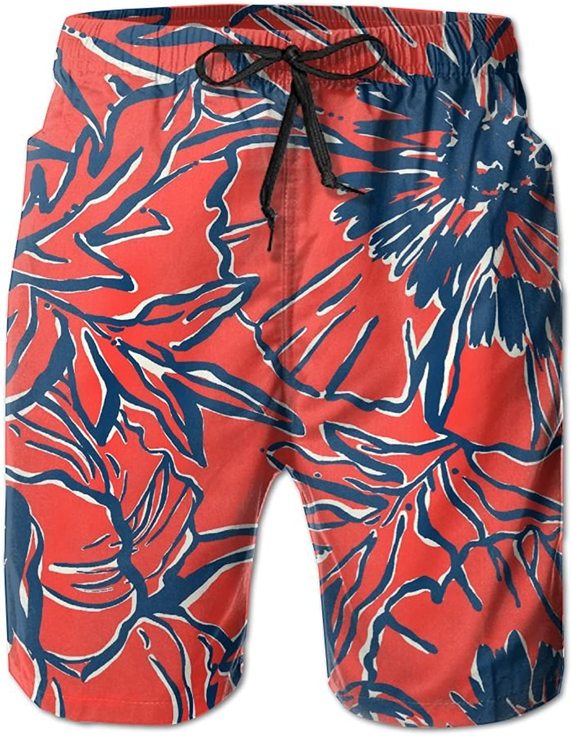 Allywit Mens Linen Cotton Shorts Casual Classic Regular Fit Beach Short Pants with Pocket Beach Shorts