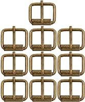 BIKICOCO 1 x 4//5 Roller Pin Buckles Handmade Hardware for Bags Leather Belt Webbing Straps Pack of 10 Bronze