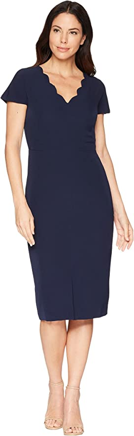 060ee8146ea Maggy London 30s Crepe Cascade Ruffle Front Dress at Zappos.com