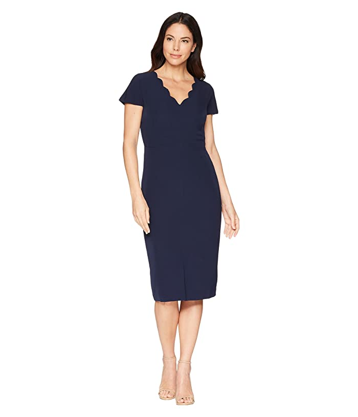 2f45b77d Maggy London Dream Crepe Sheath Dress with Scallop Neck at Zappos.com