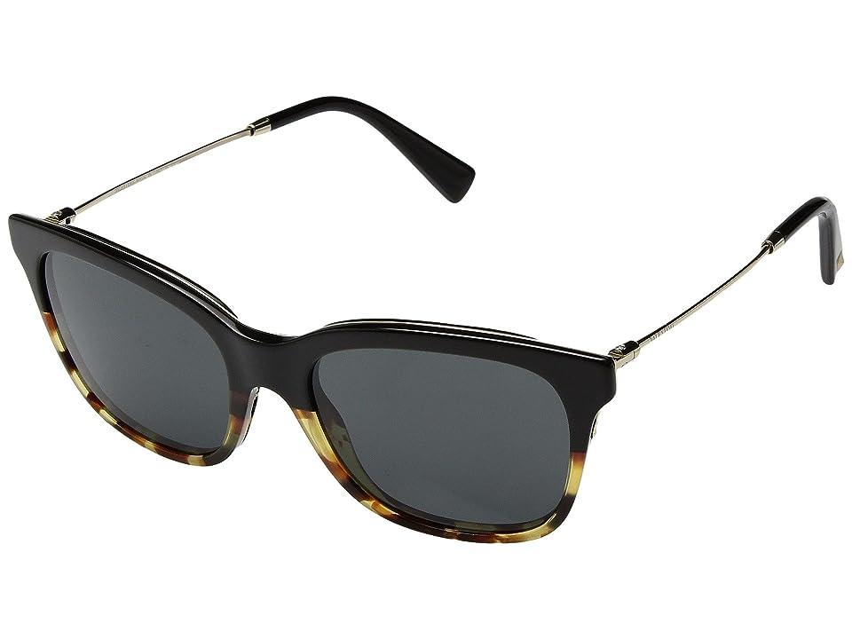 Valentino 0VA2011 (Black/Havana/Smoke) Fashion Sunglasses