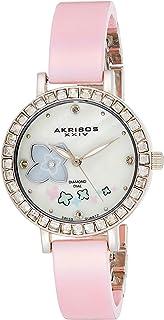Akribos XXIV Women's Ornate Analogue Display Swiss Quartz Watch