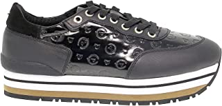 70% de descuento Pollini Pollini Pollini Mujer TA15013G04Q3100A Negro Cuero Zapatillas  ofrecemos varias marcas famosas