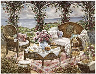 Global Gallery Janet Kruskamp Afternoon Tea-Giclee on Paper Print-Unframed-24 x 32 in Image Size, 24
