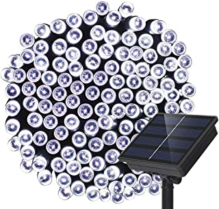 Dolucky Outdoor Solar String Lights 200LED 72ft 8 Mode Waterproof Garden Decoration Fairy Solar Lights for Patio Lawn Landscape Wedding Christmas (White)