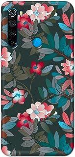 غطاء حماية مصمم لهاتف ريدمي نوت 8 من جيم اورتون، بنمط ازهار