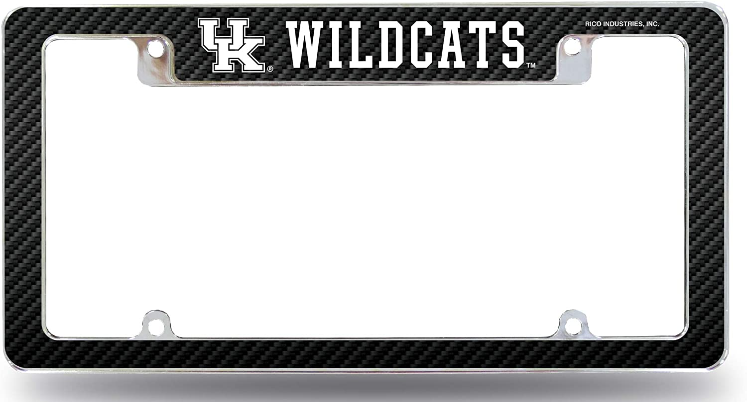 OFFicial Mesa Mall shop Rico Industries Inc. Kentucky Wildcats Plate License Fra Chrome