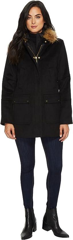 Faux Wool Twill Coat