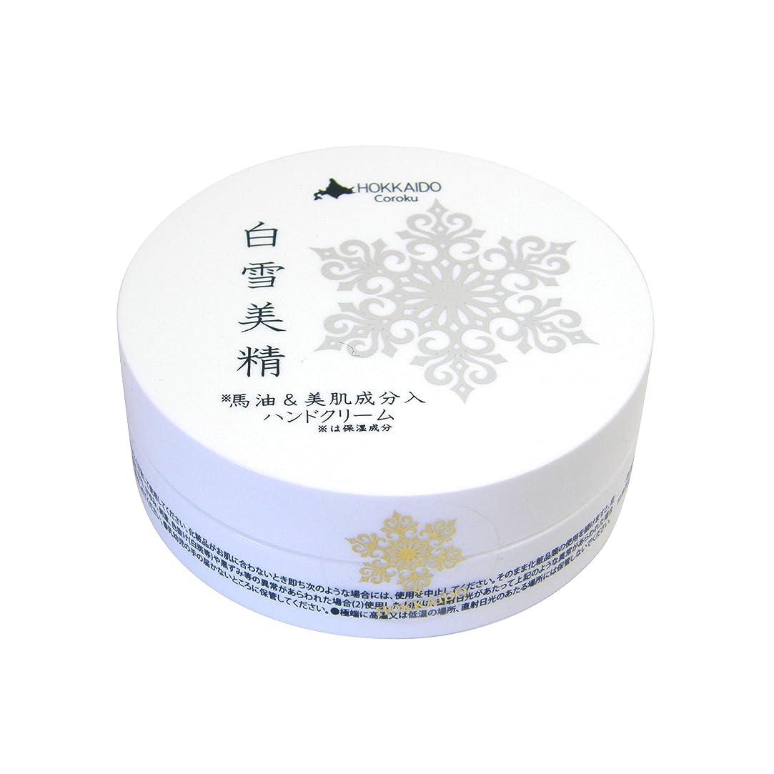 インフルエンザ行為物理学者Coroku 白雪美精 ハンドクリーム 30g