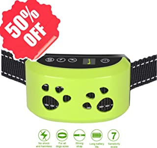 AHJDL Bark Collar Adjustable Dog Bark Collar Anti-Barking Collar for Small Medium and Large Dogs