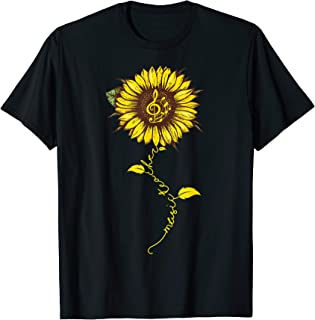 Music TEACHER BACK TO SCHOOL Hippie Sunflower Tshirt