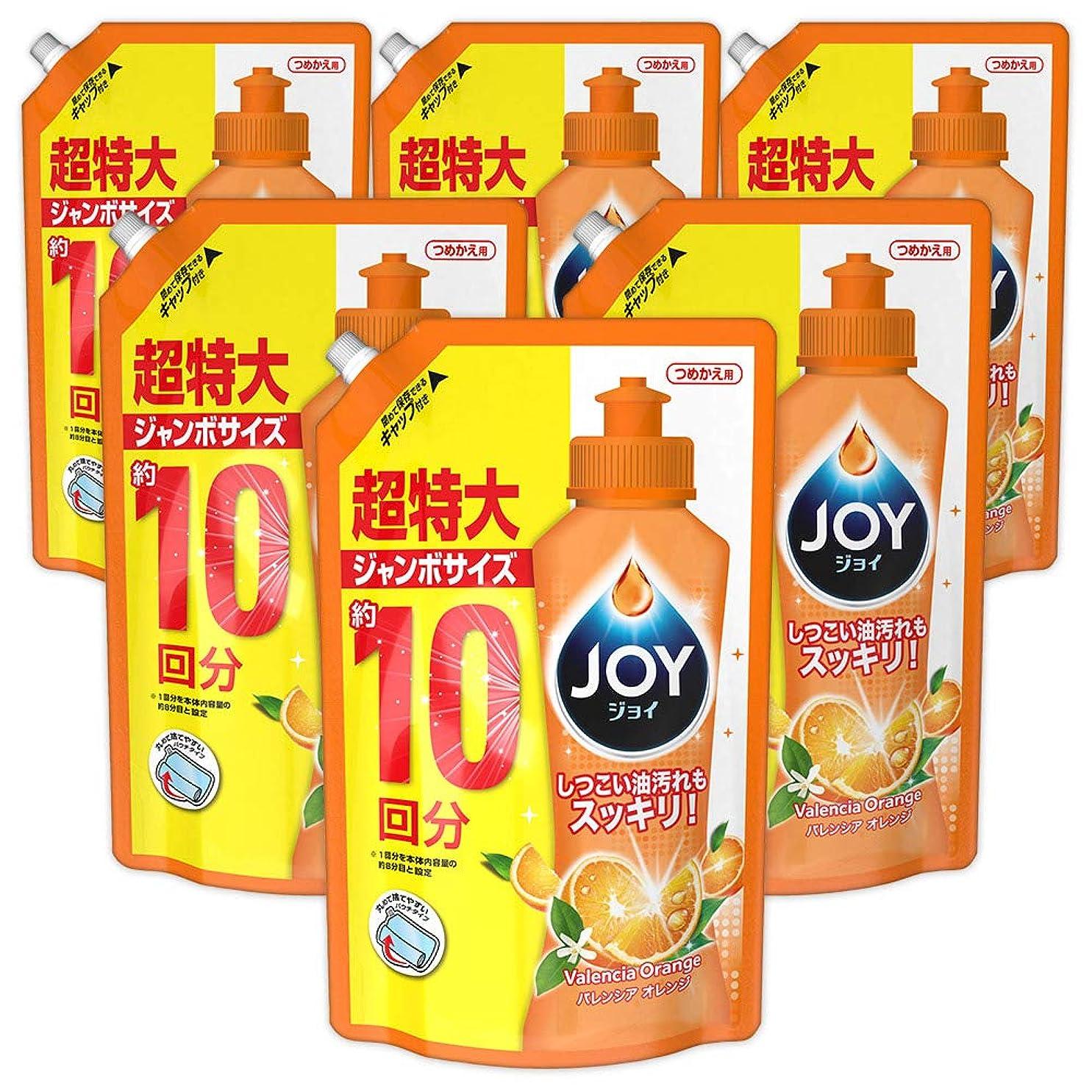 私たち早く定説【ケース販売】ジョイ コンパクト 食器用洗剤 バレンシアオレンジの香り 詰め替え ジャンボ 1445mL×6個