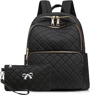حقائب ظهر من النايلون للنساء حقيبة ظهر صغيرة أنيقة خفيفة الوزن حقيبة يومية كاجوال للسيدات والفتيات المراهقات