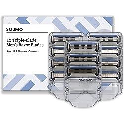 Solimo Pack 14 Cuchillas de Recambio de triple hoja
