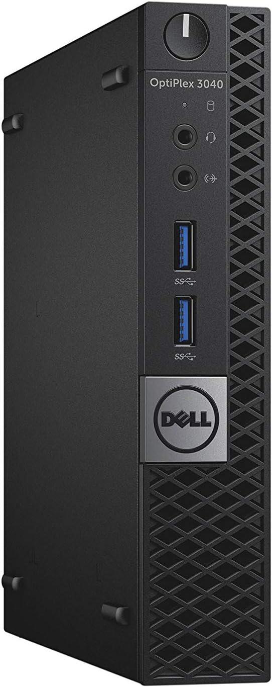Dell OptiPlex 3040 Micro Business Desktop PC, Intel Quad Core i5-6500T up to 3.1GHz, 8G DDR3L, 256G SSD, WiFi, BT 4.0, Windows 10 Pro 64 Bit-Multi-Language Supports English/Spanish/French(Renewed)