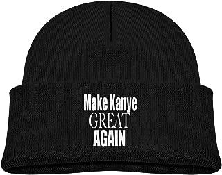 Make Kanye Great Again 0-3 Old Baby Boy Warm Winter Hats Knit Caps Black